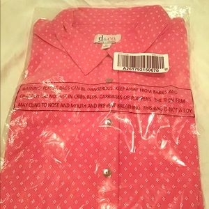 Denim + Company NWT XL Long Sleeve Button Up Shirt